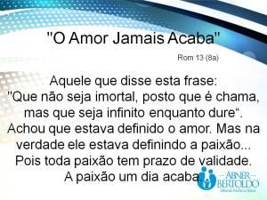 O Amor Jamais Acaba - Blog 4